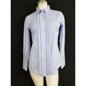 Banana Republic Size 4 Blue Button Down Shirt